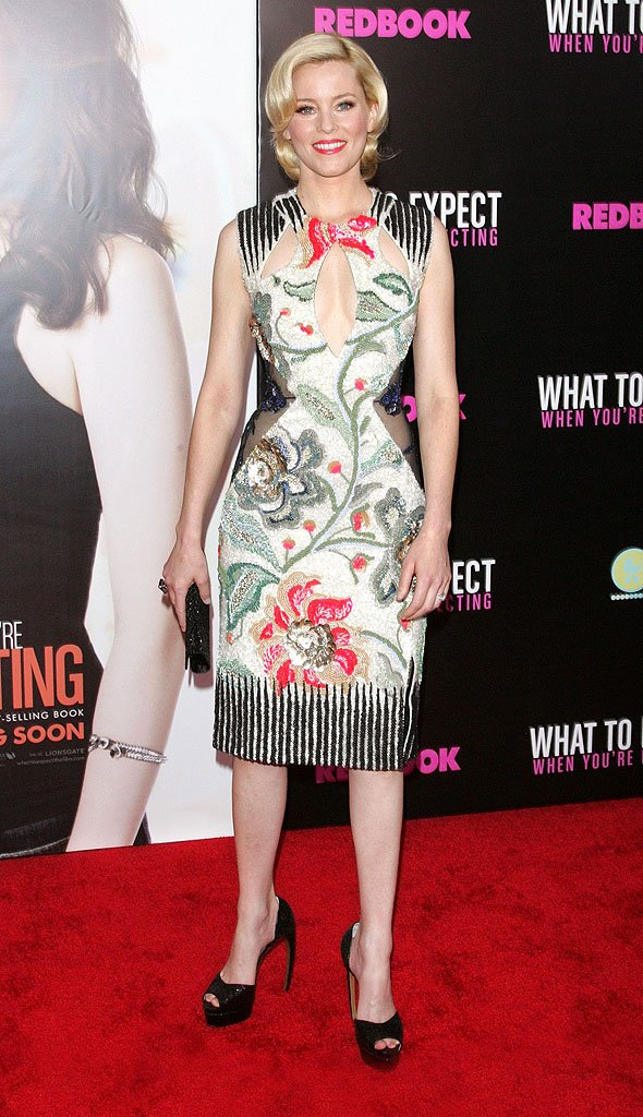 Elizabeth Banks optical illusion dress