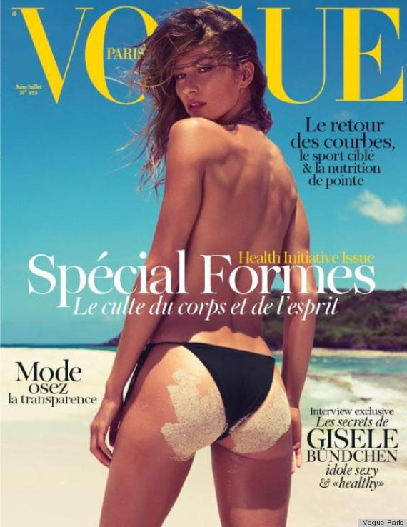 Gisele Bundchen topless for Vogue Paris