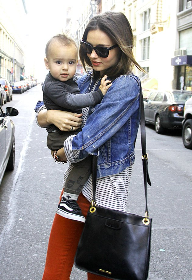 Miranda Kerr and her son