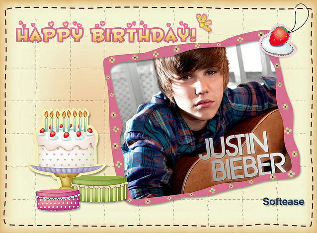five most creative justin bieber birthday card  middletondress, Birthday card