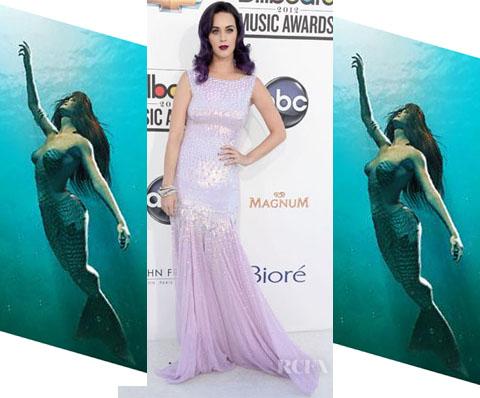 Katy Perry Mermaid look