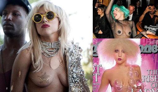 Lady Gaga's boob baring
