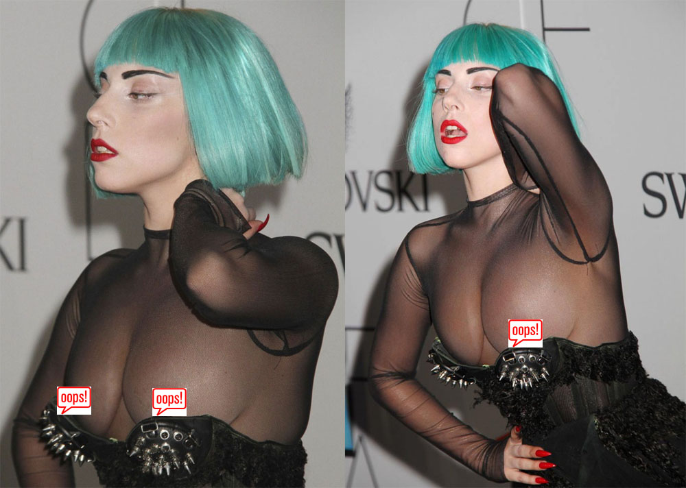 Lady Gaga's wardrobe malfunctions