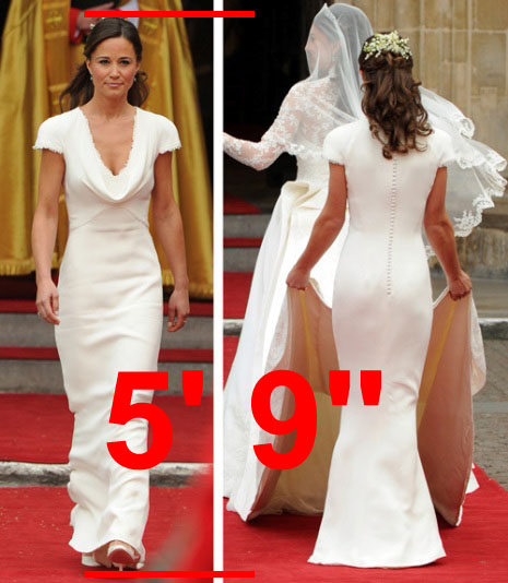 Pippa Middleton height