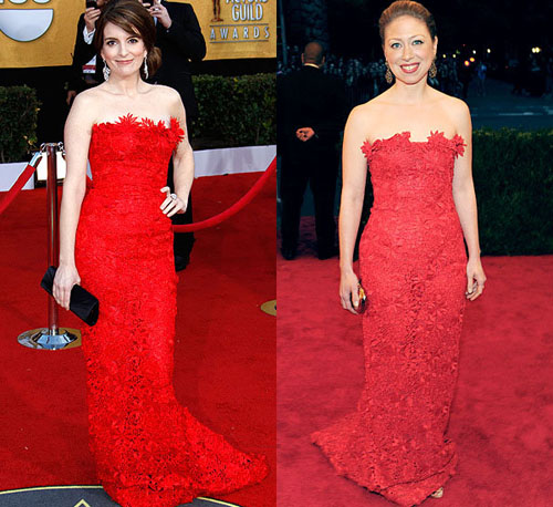 Tina Fey Chelsea Clinton Fashion Faceofff