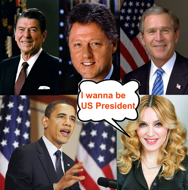 Madonna and US President