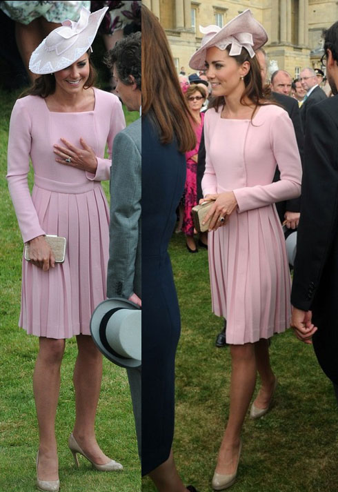 Kate Middleton Emilia Wickstead pleated coat dress