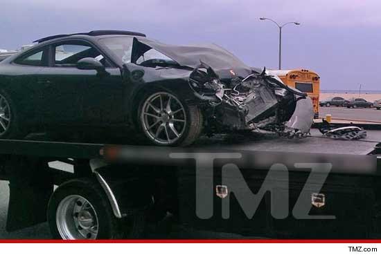 Lindsay Lohan car crash