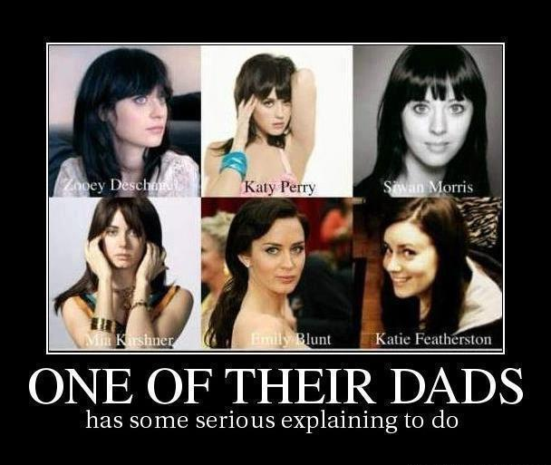 Zooey Deschanel, Katy Perry, Siwan Morris, Mia Kirshner, Emily Blunt, and Katie Featherston