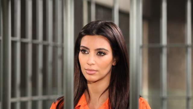 Kim Kardashian Prison Orange